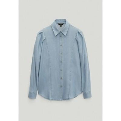 マッシモ ドゥッティ レディース シャツ トップス Button-down blouse - light blue light blue