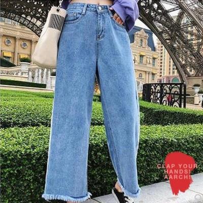 大きいサイズ デニム レディース ファッション おおきいサイズ あり パンツ ワイドフィット ストーンウォッシュ 切りっぱなし L LL 3L 4L 5L 秋冬