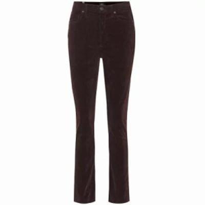 シチズン ジーンズ・デニム Olivia high-rise corduroy jeans raisin