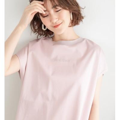 【アンディコール/un dix cors】 【《お洒落に差がつくデザイン》手洗い可】バックニットロゴTシャツ