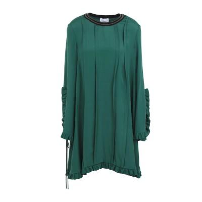 SI-JAY ミニワンピース&ドレス グリーン 38 アセテート 70% / シルク 30% ミニワンピース&ドレス