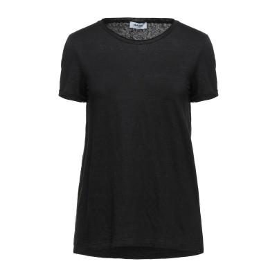 BASE T シャツ ブラック 42 リネン 95% / ポリウレタン 5% T シャツ
