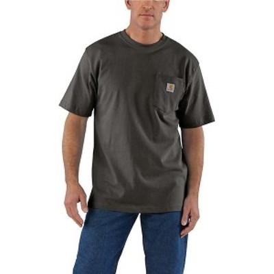 (取寄)カーハート メンズ ワークウェア ポケット ショートスリーブ T シャツ Carhartt Men's Workwear Pocket SS T Shirt Peat 送料無料