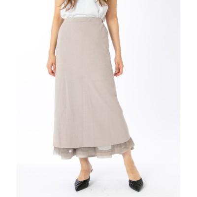 リバーシブル裾グログランチュールスカート