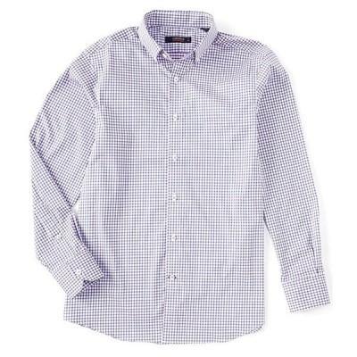 ダニエル クレミュ メンズ シャツ トップス Check Performance Stretch Deep Lavender Long-Sleeve Woven Shirt