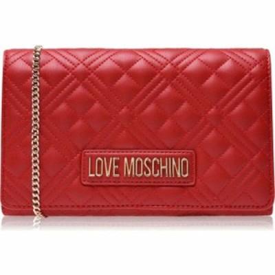 モスキーノ Love Moschino レディース ショルダーバッグ バッグ Quilted Cross-Body Bag Rosso
