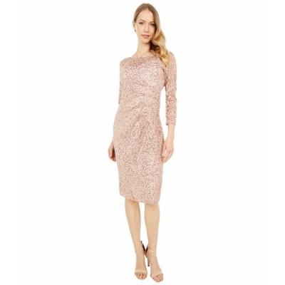 マリーナ ワンピース トップス レディース Short Long Sleeve Side Pleat Dress Blush