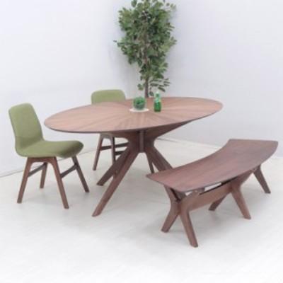 幅182cm ダイニングセット 楕円テーブル 4点セット sbkt182-4-pani339wn 光線張り ウォールナット GR色 オーバル チェア 24s-5k so
