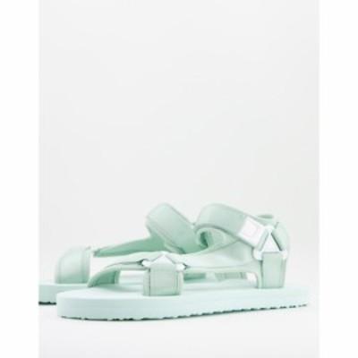 エイソス ASOS DESIGN メンズ サンダル シューズ・靴 tech sandal in sage グリーン