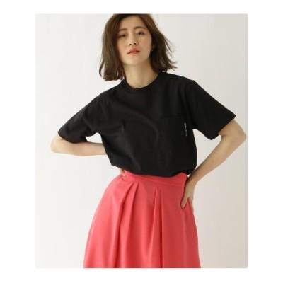 ベース コントロール BASE CONTROL ヘビーウェイト Tシャツ クルーネック ポケット 半袖Tシャツ (ブラック)
