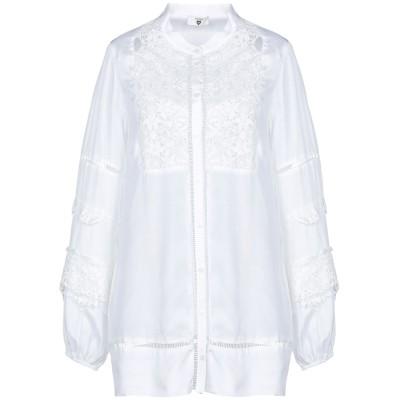 ツインセット シモーナ バルビエリ TWINSET シャツ ホワイト S レーヨン 100% / ポリエステル シャツ