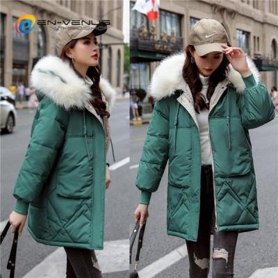 中綿ジャケット 中綿コート レディース ロングジャケット Aライン 厚手 中綿ダウンジャケット 大きいサイズ 暖かい 上品 20代 30代 40代 2020秋冬新作