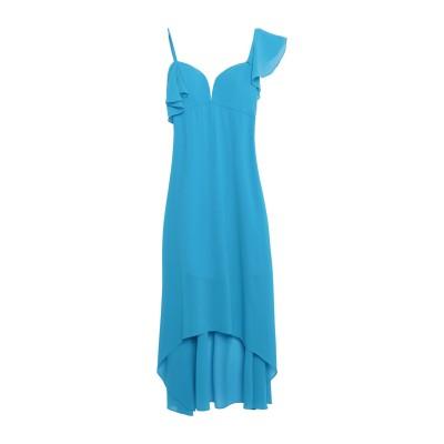 SOLOGIOIE 7分丈ワンピース・ドレス ターコイズブルー 46 ポリエステル 100% 7分丈ワンピース・ドレス