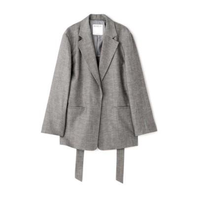 (BOSCH/ボッシュ)◆ウール麻セットアップジャケット/レディース ブラックシャンブレー1