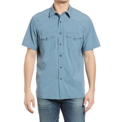 フィルソン FILSON メンズ 半袖シャツ トップス Twin Lakes Short Sleeve Snap Front Shirt Slate Blue