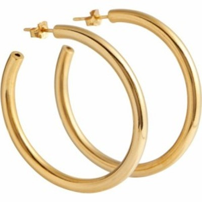 Tilly Sveaas レディース イヤリング・ピアス フープピアス ジュエリー・アクセサリー large 18kt gold-plated hoop earrings