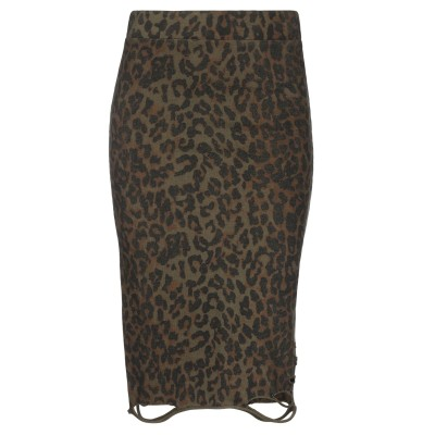 NSF ひざ丈スカート ミリタリーグリーン S コットン 100% ひざ丈スカート
