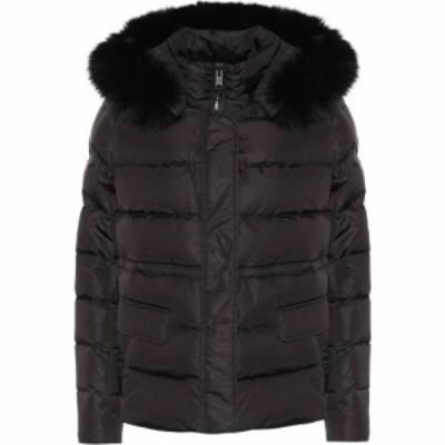 イヴ サロモン Yves Salomon レディース ダウン・中綿ジャケット アウター army fur-trimmed down jacket Black