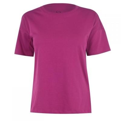 アルマーニ Armani Exchange レディース Tシャツ トップス Back Logo T-Shirt