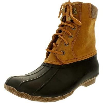 ブーツ シューズ 靴 長靴 海外セレクション Sperry レディース Shearwater レザー High-Top ラバー ブーツ Brown/Tan