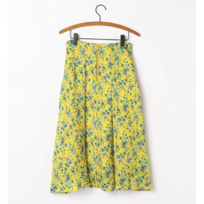 【ソフィット/Soffitto】 フラワープリントフレアスカート