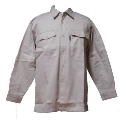 作業用 長袖シャツ 白(アイボリー) 25900 クロダルマ 作業服 ワークシャツ