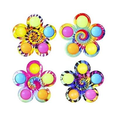 Fidget Spinner Pop Toys 4 Pack, Pop Bubble Spinner Set , Party Favor Sensor
