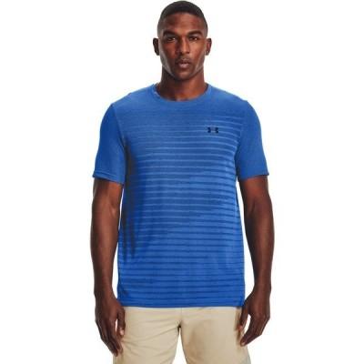 アンダーアーマー Tシャツ トップス メンズ Under Armour Men's Seamless Fade Short Sleeve T-shirt Blue