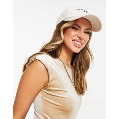 マイアクセサリーズ レディース 帽子 アクセサリー My Accessories London cap in off white with logo
