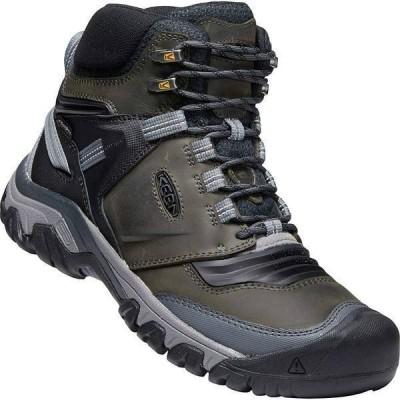 キーン シューズ メンズ ハイキング KEEN Men's Ridge Flex Mid Waterproof Boot Magnet / Black