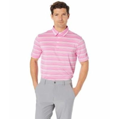 アディダス メンズ シャツ トップス Heathered Primegreen AEROREADY Polo Shirt Screaming Pink/