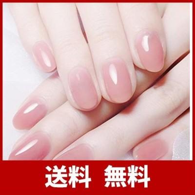レディ 人気のスタイル ネイルチップ かわいい ピンク 手作りネイルチップ 無地 24枚入 入学式 入園式