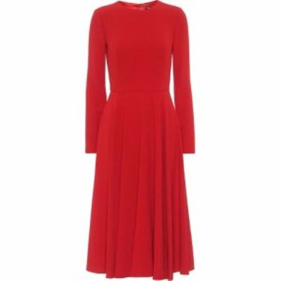 ドルチェandガッバーナ Dolce and Gabbana レディース パーティードレス ミドル丈 ワンピース・ドレス Cady Midi Dress Rosso Scurissimo