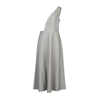 NINA RICCI ロングワンピース&ドレス ライトグレー 40 羊革(ラムスキン) 100% ロングワンピース&ドレス