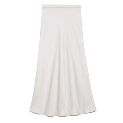 サテンバイアスロングスカート