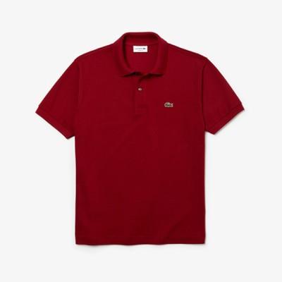 [ラコステ] L.12.12 ポロシャツ (無地・半袖) ホワイト XS(002) メンズ アウター/トップス バーガンディー XS(002)