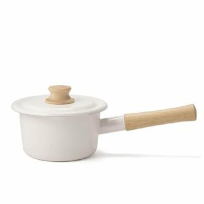 富士ホーロー コットンシリーズ ミルクパン ホワイト 14cm CTN-14M.W 片手鍋