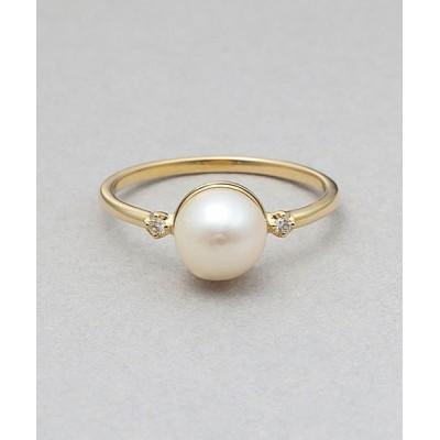 指輪 【BLOOM/ブルーム】6月誕生石K10イエローゴールドあこや真珠リング