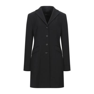 FABRIZIO LENZI コート ブラック 44 ポリエステル 54% / バージンウール 44% / ポリウレタン 2% コート