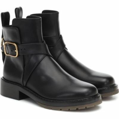 クロエ Chloe レディース ブーツ ショートブーツ シューズ・靴 Franky leather ankle boots Black
