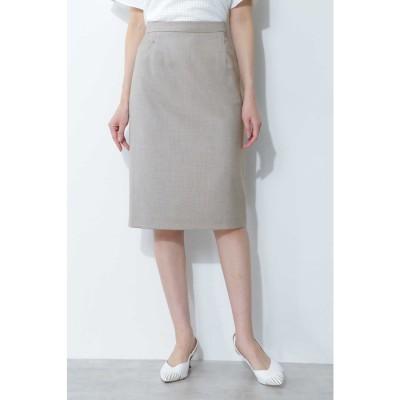 ◆シャークスキンセットアップスカート グレー1