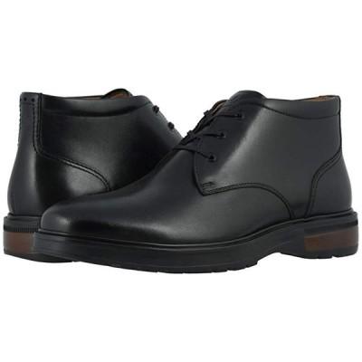 フローシャイム Astor Plain Toe Chukka Boot メンズ ブーツ Black Smooth/Black Sole