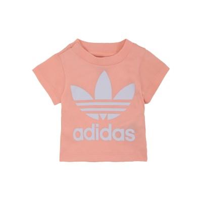 ADIDAS ORIGINALS T シャツ サーモンピンク 6 コットン 100% T シャツ