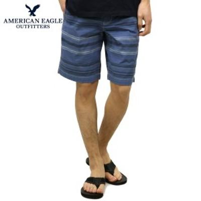 アメリカンイーグル ショートパンツ メンズ 正規品 AMERICAN EAGLE ボトムス  AE PREP LENGTH STRIPED SHORT 1131-5823 BLUE