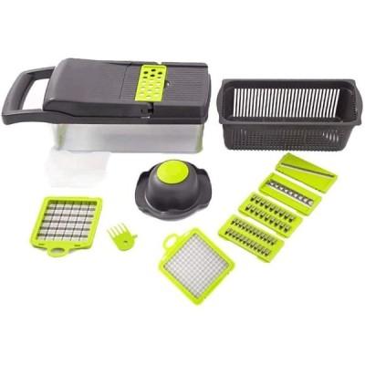 YIBOKANG フードカッタータマネギスライサーダイサー、ステンレス鋼の刃、卵白フィルター、手の保護具、野菜、フルーツ、サラダの洗浄ブラシフィット
