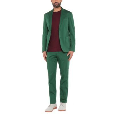 DOMENICO TAGLIENTE スーツ グリーン 52 コットン 97% / ポリウレタン 3% スーツ