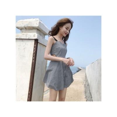 ノースリーブ チェック パーティードレス レディース ワンピース お呼ばれドレス kh-0932
