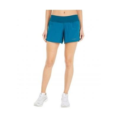 """Brooks ブルックス レディース 女性用 ファッション ショートパンツ 短パン Chaser 5"""" Shorts - Deep Sea"""
