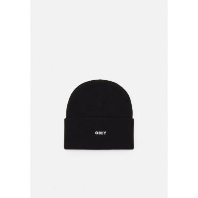 オベイ 帽子 メンズ アクセサリー FLUID BEANIE UNISEX - Beanie - black