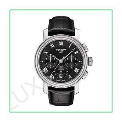 Tissot Men's Bridgeport Stainless Steel Swiss-Automatic Watch with Leather Strap, Black, 20 (Model: T0974271605300) 並行輸入品